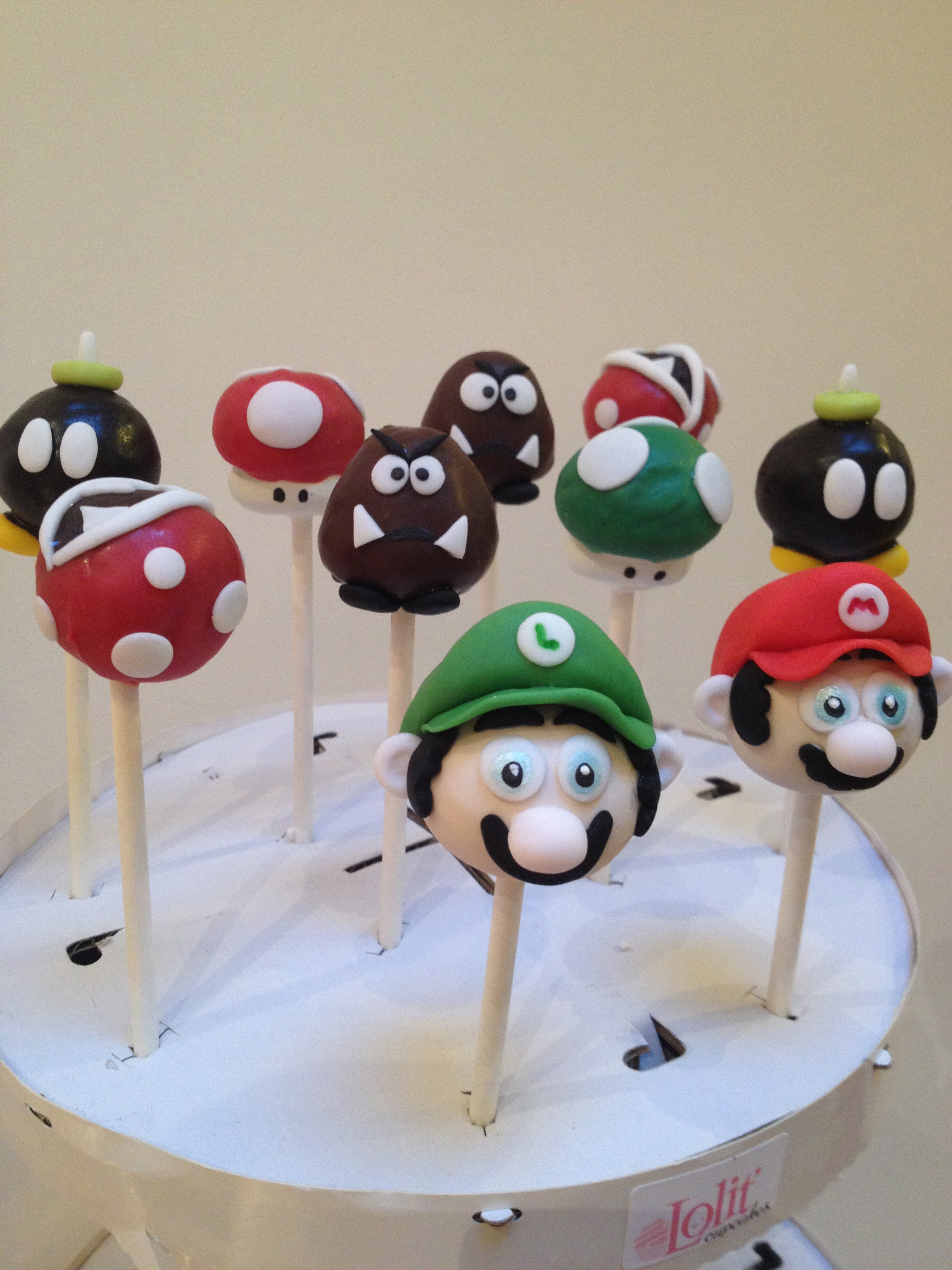 Cake pop Mario Bros