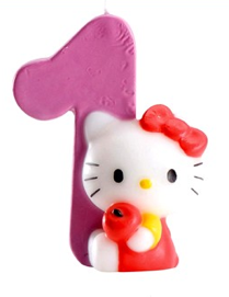 Bougie Chiffre 1 Hello Kitty