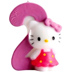 Bougie Chiffre 2 Hello Kitty