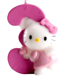 Bougie Chiffre 3 Hello Kitty