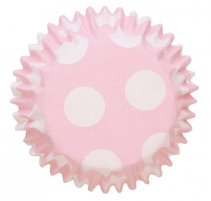 Mini Caissette à cupcakes - Pois Rose