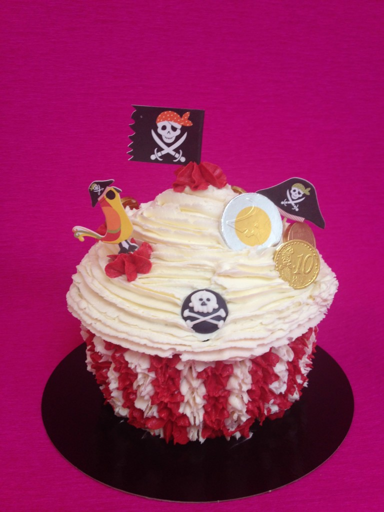 Cupcake Géant Pirate