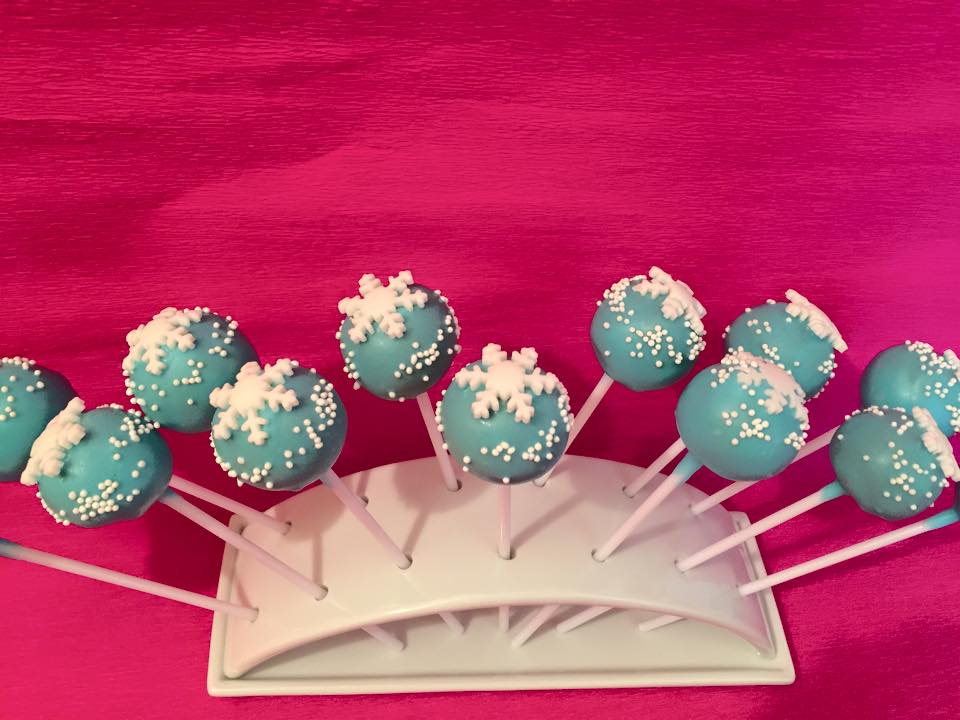 Cake pop Reine des neiges