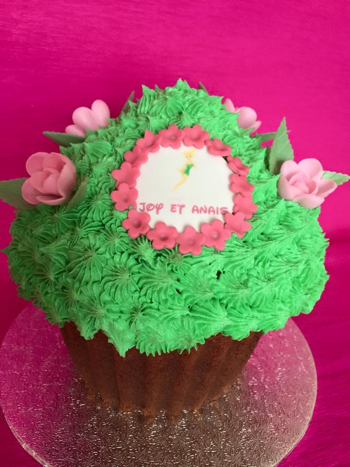 Cupcakes géant fée clochette
