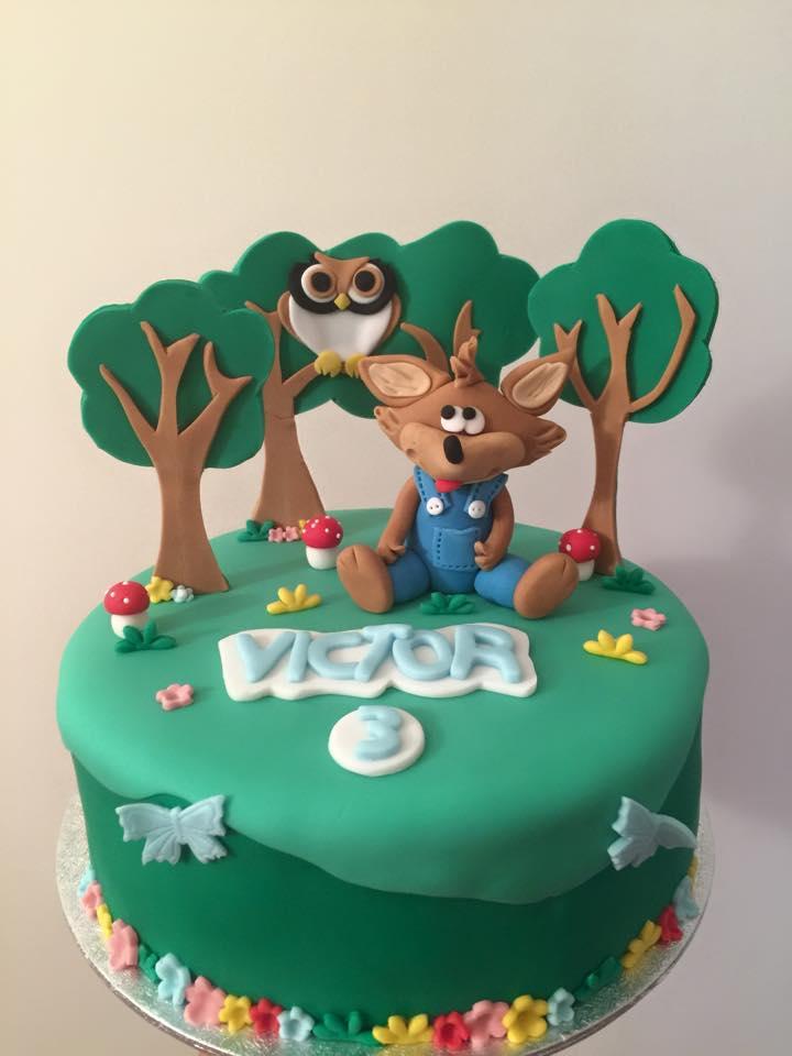Gâteau Loup dans la fôret